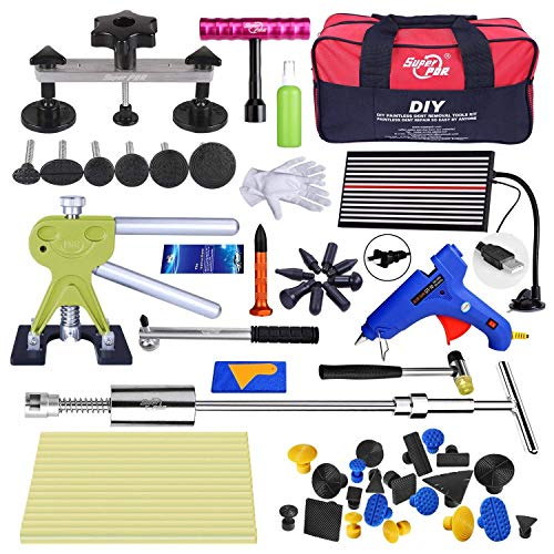 Price comparison product image Fly5D 56PcsPaintless Dent Removal Tools Puller Sets Pull up Kit for Car Hail Damage Door Dings Repair