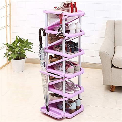 ZAIHW Zapatero Multicapa con Capacidad para 11 Pares de Zapatos y 4 sombrillas Ahorra Espacio Instalación extraíble (Color: 6)