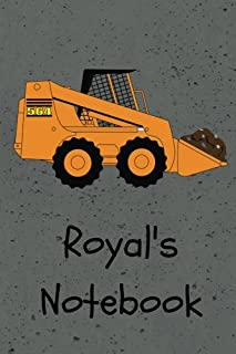 Royal's Notebook: Construction Equipment Skid Steer Cover 6x9