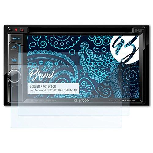 Bruni Schutzfolie kompatibel mit Kenwood DDX5015DAB/-5016DAB Folie, glasklare Displayschutzfolie (2X)