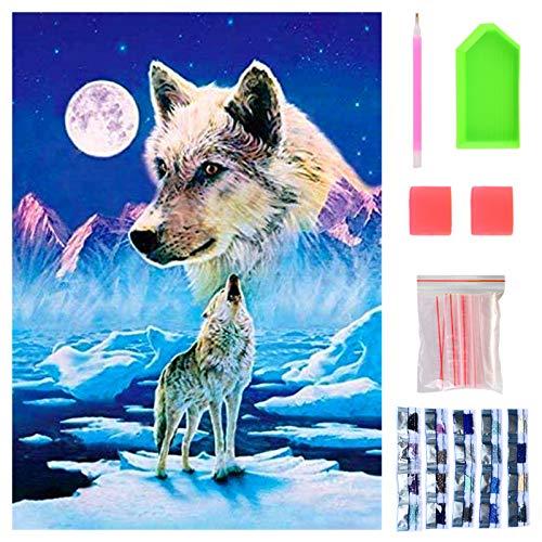 40 x 30cm DIY Diamond Painting Animales, Manualidades Adultos, Diamond Painting Kit Completo para Niños, Punto de Cruz Diamante, 5D Pintura Diamante, Cuadros Decoracion, Regalos para Principiantes.