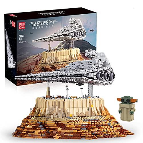 Hedi Technik Sternenzerstörer Bauset , Mould King 21007 Jedha City, Super Star Destroyer UCS Klemmbausteine Kompatibel mit Lego Star Wars