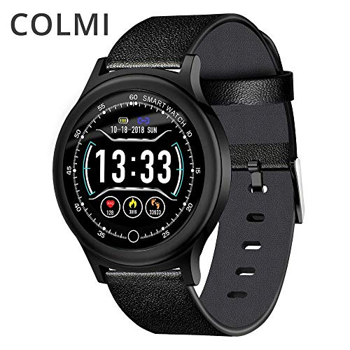 Colmi - Reloj inteligente con pantalla redonda IP68 impermeable para hombre, rastreador de actividad, Bluetooth, para mujer, reloj inteligente 2