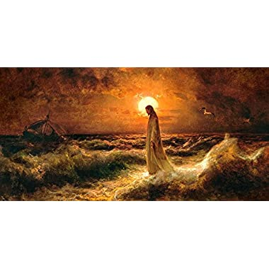 Christ Walking On The Water - 12 x 18  - Nauvoo Mormon LDS Art