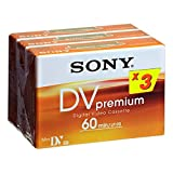 Sony Mini DV Premium Video Cassette Tapes (Pack of 3)