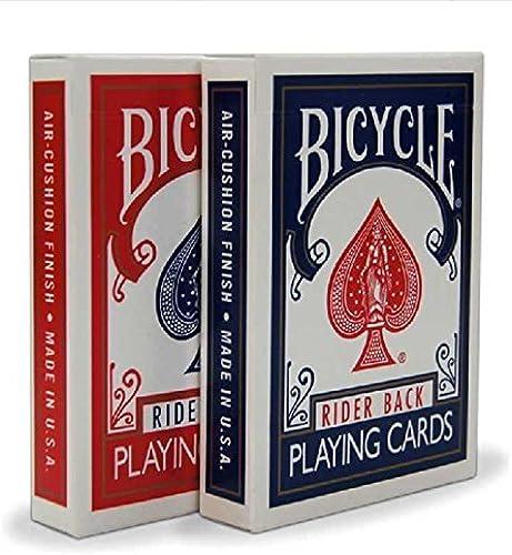 barato y de alta calidad 2 Cubiertas para para para Bicicleta Rider Back 808 estándar póquer Cartas de Juego rojo y azul  compras online de deportes