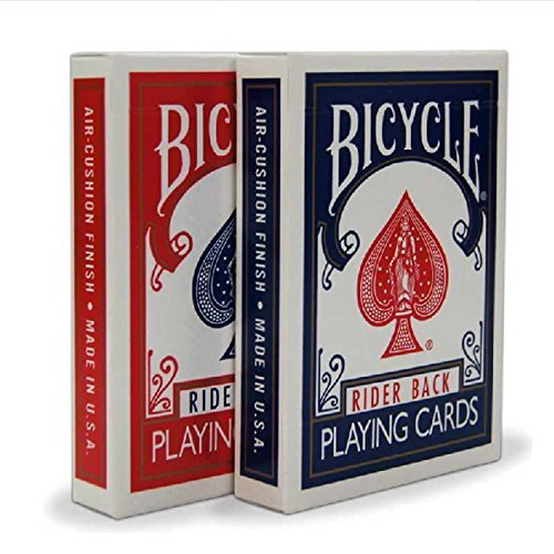2 Decks Bicycle Rider Back 808 Standard Poker Playing Cards Red & Blue