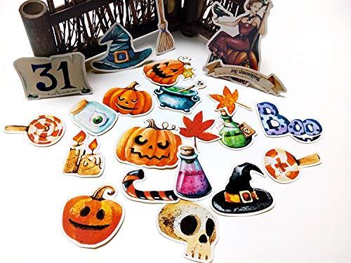 JIAQI Nette Halloween Aufkleber Festival für Telefon Label dekorative Schreibwaren Aufkleber Scrapbooking DIY Tagebuch Album Spielzeug Aufkleber 22Pcs