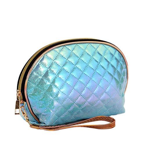 SKYXIU - Borsa per cosmetici portatile, impermeabile, per cosmetici, da viaggio, Blu, 1,