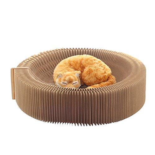 Yuncai Katze Lounge aus Pappe Faltbare Wellpappe Katzen Bett Katzenkratzbrett