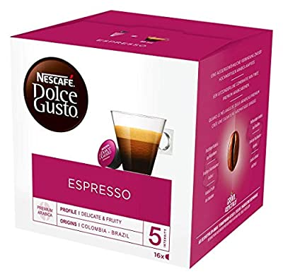 NESCAFÉ DOLCE GUSTO Espresso Coffee Pods, 16 Capsules (Pack of 3 - Total 48 Capsules, 48 Servings)
