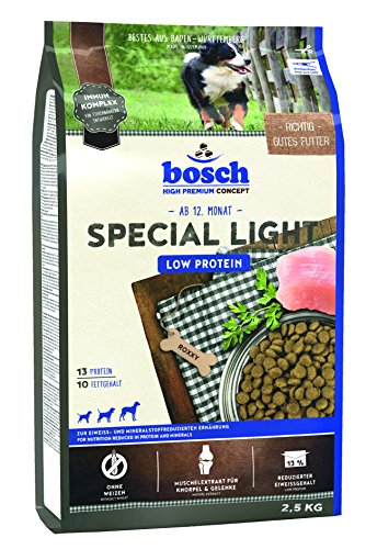bosch HPC Special Light | Alimento seco para una dieta baja en proteínas y minerales | 1 x 2,5 kg