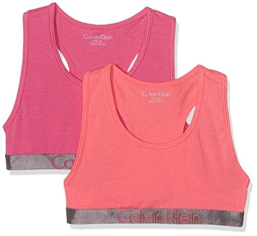 Calvin Klein Girl's 2 Pack Bralette Bustier, Multicoloured (1 Calypso...