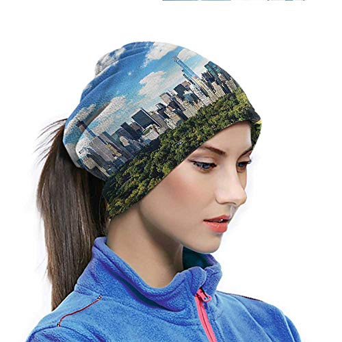 Thermal Neck Warmer NYC Face Cover UV Protection Sunny Day in Manhattan Park for Fishing Motorcycling Running 10x11.6 inch