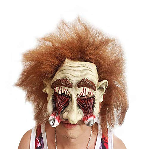 Mscara De Halloween, Carnaval Mscara De Zombi Realista Aterradora Sangrienta, Mscara De Ltex Para Adultos, Mscara De Fiesta De Disfraces De Terror De Halloween, Accesorios De Disfraz De Maquillaj