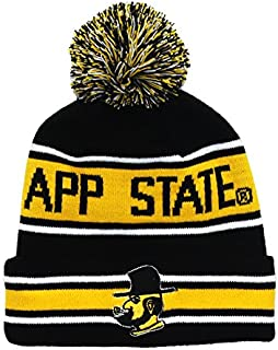 App State Beanie - Appalachian State Mountaineers Victory Yosef Retro Pom Beanie