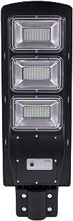 youeneom 60/90W LED Solar Street Light Dusk to Dawn Sensor Waterproof IP65 Security Floodlight Yard Wall Post Outdoor Lights PIR Motion Sensor Wall Timing Lamp (90W)