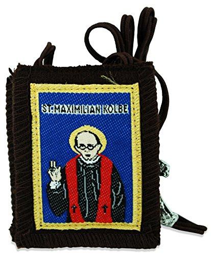 Venerare Authentic Catholic Scapular - 100% Wool (Saint Maximilian Kolbe)