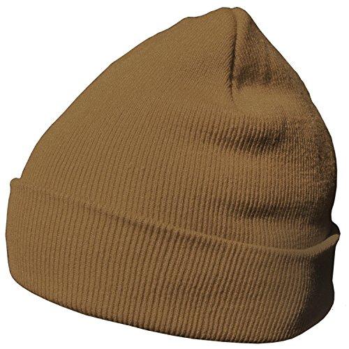 DonDon Wintermütze Mütze warm klassisches Design modern und weich khaki