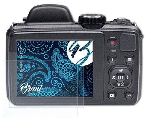 Bruni Schutzfolie kompatibel mit Kodak PixPro AZ362 Folie, glasklare Bildschirmschutzfolie (2X)