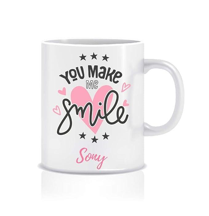Reeya Gift Coffee Mug for Sony Personalised Name Ceramic