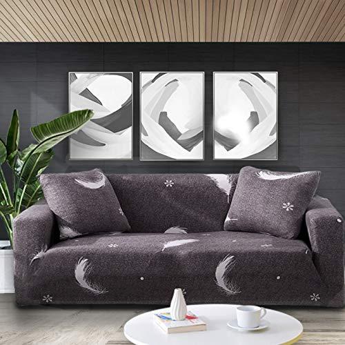 ASCV Funda de sofá elástica con Estampado Floral Fundas de sofá Fundas de sofá para Sala de Estar Esquina sofá Toalla Funda de sofá A4 1 Plaza