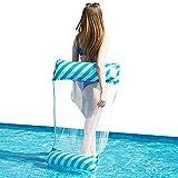 Gxhong Hamaca de Agua Hamaca Flotante Piscina Colchón Hinchable Hamaca Piscina Tumbona Flotante Hamaca Flotante para Piscina Piscina Jardín y Playa para Adultos & Niños, Azul