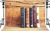 写真のまだらにされたビンテージ木粒壁貴重な歴史的文書の背景7x5ftHXMT273のHD貴重な歴史的本の背景