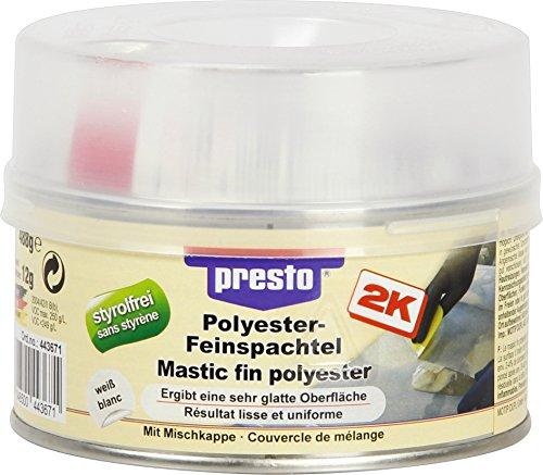 Sélection Brico-travo Presto Polyester FEINSPACHTEL STYROLFREI Metall Holz Beton 500 g 443671