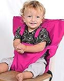 Aurelius Tragbarer Hochstuhl für Babys und Kleinkinder, Sicherheitsgeschirr, Reisenerhöhung, Sitzbezug zum Füttern