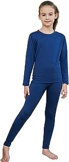 HEROBIKER Girls Ultra Soft Fleece Lined Thermal Underwear Kids Long Johns Top Bottom Set for Winter