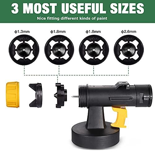 Pistola a Spruzzo 500W, TECCPO HVLP Spruzzatore Elettrica, 800 ml/min, 4 Ugelli, 3 Filtri per Vernice, 1300 ml con 3 Modalità di Pittura, un Buon Aiuto per Decorare & Spruzzare Disinfettante - TAPS02P