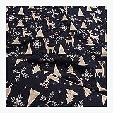 Stoff am Stück Stoff Weihnachtsstoff Baumwolle dunkelblau