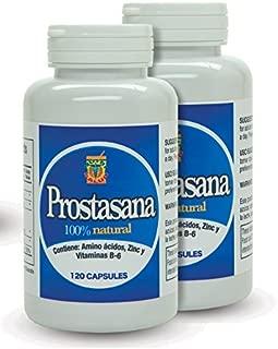 Prosta Sana, Capsulas naturales para el alivio de la Prostata inflamada. Prostate Support with Saw Palmetto. Set de 2 Frascos con 120 Capsulas cada uno.