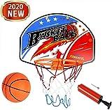 MUANSER Mini Wall Basketball Goal Backboard Rim Indoor Toys Set para Piscina, montado en la Pared con Red de Pelota y Bomba Portátil de Interior al Aire Libre para niños,A