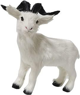 LOVIVER Plush Goat Figurine Garden Statue Lawn Ornaments, Artificial Animal Sculpture Outdoor Patio Yard Decoration - L