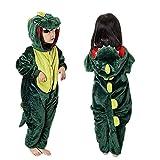 MMTX Unisex Dinosaurio Onesies Disfraces Pijamas, Flannel Animal Character Ropa de Dormir Ropa de Dormir Sudadera con Capucha