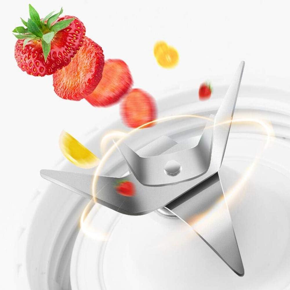 SZJJI Licuadora portátil, Mini mezcladora eléctrica 600ML, licuadora de Jugo Recargable con USB, para jugos de Frutas y Verduras, Ensalada, Sopa, Alimentos para bebés,Green Green