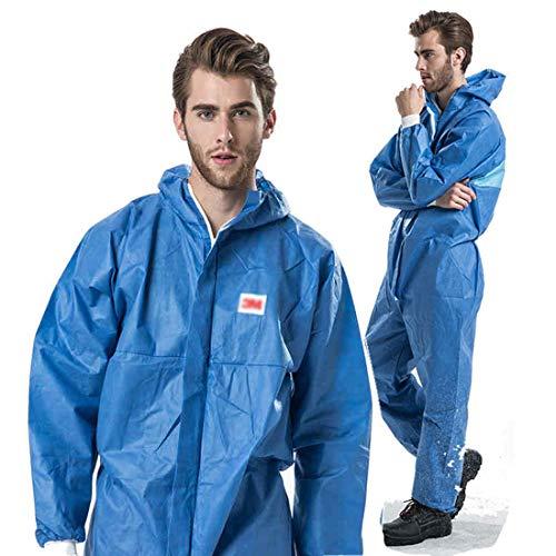 NIULLA Isolationsanzug blau Schutzkleidung Partikel Strahlungsbeständig Chemieanzug Antistatisch Lack Kleidung Anzug Staubschutz Arbeitsanzug X-Large