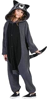Animal Cosplay Costume Raccoon Unisex Adult Pajamas