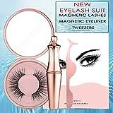 Magnetic Liquid Eyeliner&Magnetic False Eyelashes & Tweezer Set Luxury Collection Magnetic Liquid Eyeliner & Handmade Magnetic False Eyelashes Waterproof Long Lasting Eyeliner Makeup # Miami