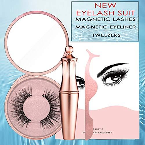 Traceur à paupières liquide magnétique & pinces à cils magnétiques et pince à épiler Collection Luxury Eyeliner à pince liquide magnétique fait main Magnetic Eye Imperméable Maquillage des yeux #Miami