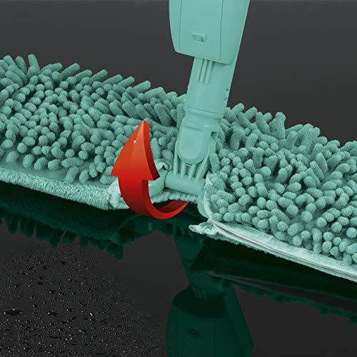 CLEANmaxx - Panno 2 in 1, Colore: Turchese con 2 Panni di Ricambio