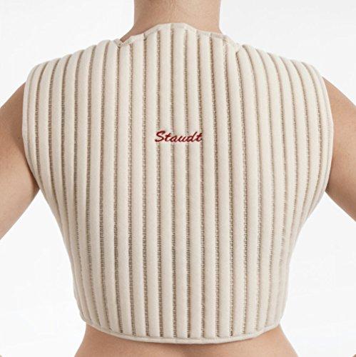 Staudt Halswirbel-Schulter Manschette Größe L bei Überlastungs- und abnützungsbedingten Schmerzen und Verspannungen im Halswirbelsäulenbereich und bei osteoporotisch bedingten Beschwerden.