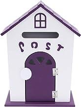 Amosfun Land Omleiding Mailbox hout retro geschilderd handwerk kunst schattig vogelhuis mailbox schattige post huis brieve...