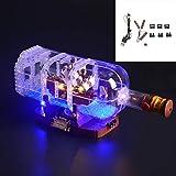 Iluminación LED, Conveniente para los Buques Creativas en una Botella de Ideas, la Serie Compatible con Lego 21313 (Sólo iluminación, sin incluir el Modelo)