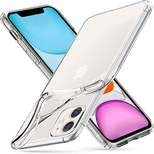 "Spigen Liquid Crystal Funda iPhone 11, Diseñado para Apple iPhone 11 (6.1"") 2019 - Crystal Clear"