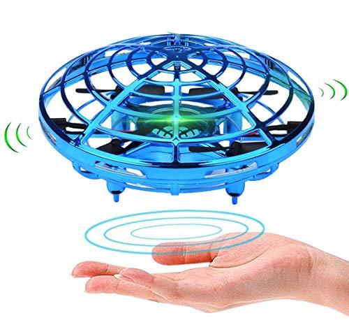 Powerbeast ドローン ラジコン ミニドローン こども向け ジェスチャー制御 自動回避障害機能 2段スビート調整 ドローン 小型 高度維持 LED 室外 室内 公園 クリスマス 誕生日 子供 プレゼント 男の子 女の子 4-12歳 ヘリコプター ドローン おもちゃ(青)