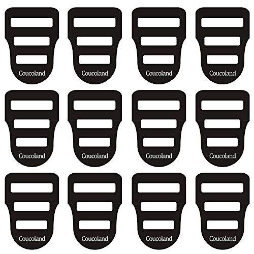 Coucoland Herren Einstecktuch Halter Set Taschentücher Einstecktuchhalter für den perfekten Sitz Herren Accessoires Set zu Konfirmation, Anzug, Smoking (12 Stück)