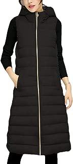 UUYUK Women Winter Sleeveless Slim Fit Hooded Gilet Vest Jacket